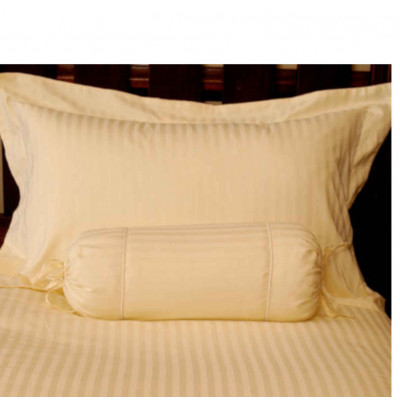 CHRISTMAS SPECIAL - White Percale Satin Stripe 350TC Pillowcases