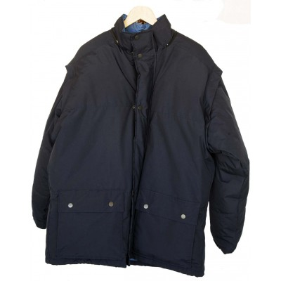 J-Tex Waterproof Down Jacket with Zip-Off Sleeves and Hoodie