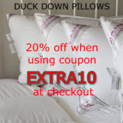 EXTRA 10% OFF DUCK DOWN PILLOWS