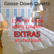 Extra 5% OFF ALL GOOSE DOWN DUVETS